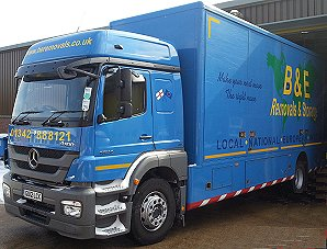 B & E Removals & Storage rfy lorry